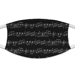 Musical Notes Cloth Face Mask (T-Shirt Fabric) (Personalized)