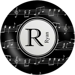 """Musical Notes Melamine Plate - 8"""" (Personalized)"""
