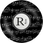 Musical Notes Melamine Plate (Personalized)
