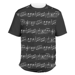 Musical Notes Men's Crew T-Shirt (Personalized)