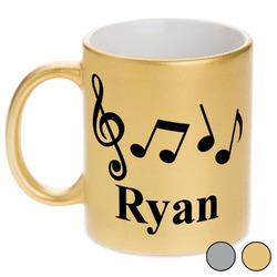 Musical Notes Metallic Mug (Personalized)