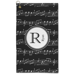 Musical Notes Microfiber Golf Towel - Large (Personalized)