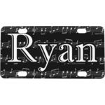Musical Notes Mini / Bicycle License Plate (Personalized)