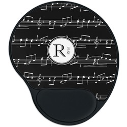 Musical Notes Mouse Pad with Wrist Support