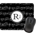 Musical Notes Rectangular Mouse Pad (Personalized)