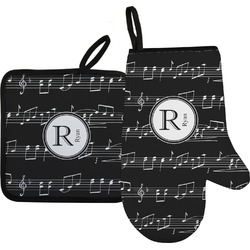 Musical Notes Oven Mitt & Pot Holder (Personalized)
