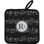 Musical Notes Pot Holder w/ Name and Initial
