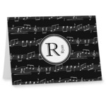 Musical Notes Note cards (Personalized)