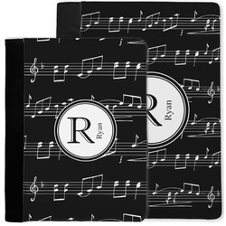Musical Notes Notebook Padfolio w/ Name and Initial