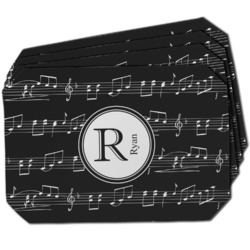 Musical Notes Dining Table Mat - Octagon w/ Name and Initial
