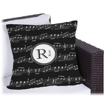 Musical Notes Outdoor Pillow (Personalized)