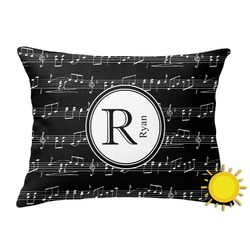 Musical Notes Outdoor Throw Pillow (Rectangular) (Personalized)