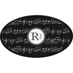 Musical Notes Oval Trailer Hitch Cover (Personalized)