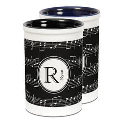 Musical Notes Ceramic Pencil Holder - Large