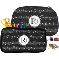Musical Notes Pencil / School Supplies Bag (Personalized)