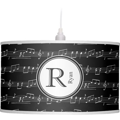 Musical Notes Drum Pendant Lamp (Personalized)