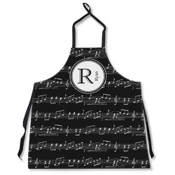 Musical Notes Apron Without Pockets w/ Name and Initial