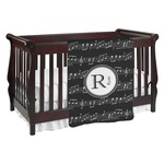 Musical Notes Baby Blanket (Personalized)