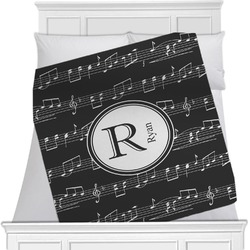 "Musical Notes Fleece Blanket - Twin / Full - 80""x60"" - Double Sided (Personalized)"