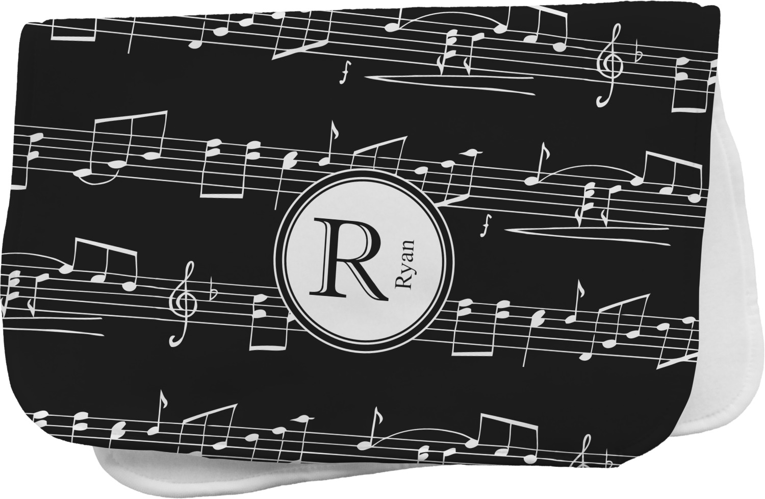 Musical Notes Burp Cloth Personalized Youcustomizeit