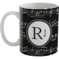 Musical Notes Coffee Mug (Personalized)
