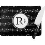 Musical Notes Rectangular Glass Cutting Board (Personalized)
