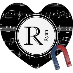 Musical Notes Heart Fridge Magnet (Personalized)