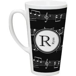 Musical Notes Latte Mug (Personalized)