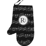 Musical Notes Left Oven Mitt (Personalized)