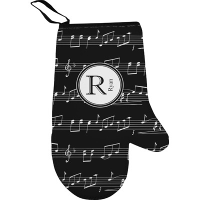 Musical Notes Oven Mitt (Personalized)