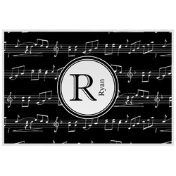 Musical Notes Laminated Placemat w/ Name and Initial