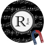 Musical Notes Round Fridge Magnet (Personalized)