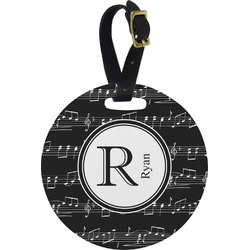 Musical Notes Round Luggage Tag (Personalized)