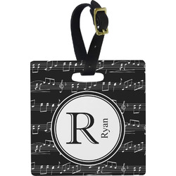 Musical Notes Square Luggage Tag (Personalized)