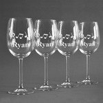 Musical Notes Wine Glasses (Set of 4) (Personalized)