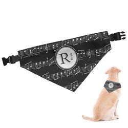 Musical Notes Dog Bandana (Personalized)