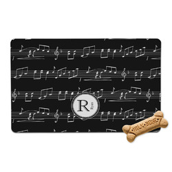 Musical Notes Pet Bowl Mat (Personalized)