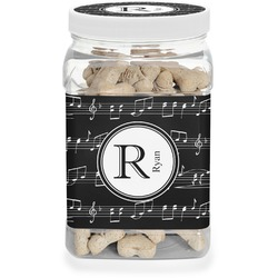 Musical Notes Pet Treat Jar (Personalized)