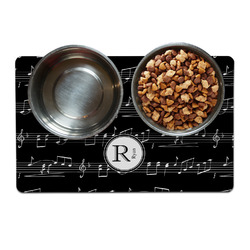 Musical Notes Dog Food Mat (Personalized)