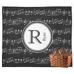 Musical Notes Outdoor Picnic Blanket (Personalized)