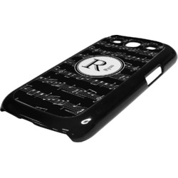 Musical Notes Plastic Samsung Galaxy 3 Phone Case (Personalized)