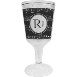 Musical Notes Wine Tumbler - 11 oz Plastic (Personalized)