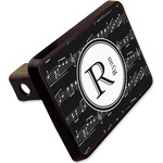 """Musical Notes Rectangular Trailer Hitch Cover - 2"""" (Personalized)"""