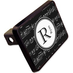 "Musical Notes Rectangular Trailer Hitch Cover - 2"" (Personalized)"