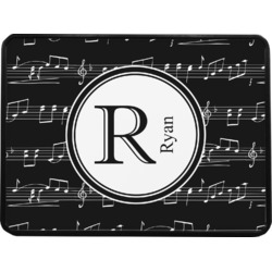 """Musical Notes Rectangular Trailer Hitch Cover - 1.25"""" (Personalized)"""