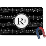Musical Notes Rectangular Fridge Magnet (Personalized)