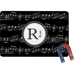Musical Notes Rectangular Fridge Magnet (Personalized)