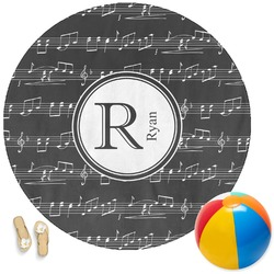 Musical Notes Round Beach Towel (Personalized)