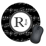 Musical Notes Round Mouse Pad (Personalized)