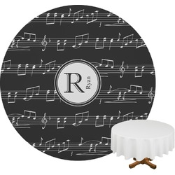 Musical Notes Round Tablecloth (Personalized)